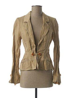 Veste chic / Blazer beige BARBARA BAUDON pour femme