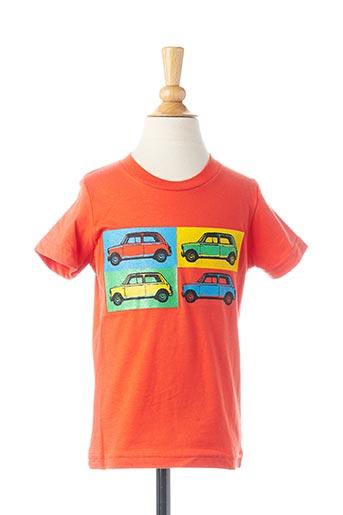 T-shirt manches courtes orange AMERICAN APPAREL pour garçon