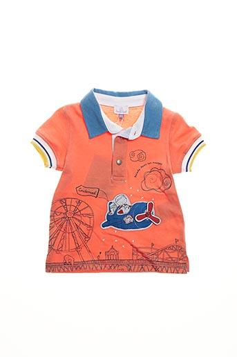 Polo manches courtes orange COUDEMAIL pour garçon