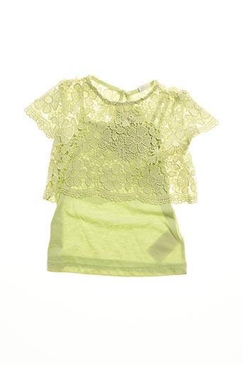 Robe mi-longue vert MAYORAL pour fille