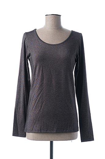T-shirt manches longues gris PAKO LITTO pour femme