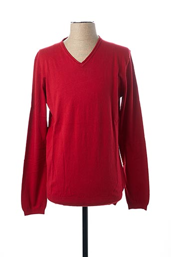 Pull col V rouge SALSA pour homme