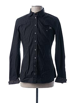 Chemise manches longues noir OXBOW pour homme