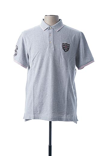Polo manches courtes gris RUCKFIELD pour homme