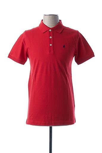 Polo manches courtes rouge MCS pour homme