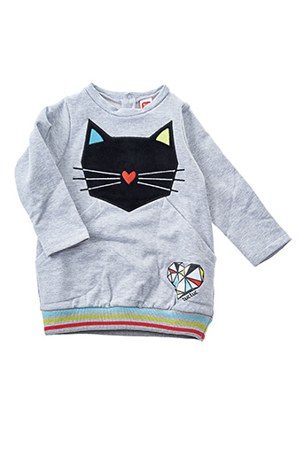 Robe pull gris TUC TUC pour fille