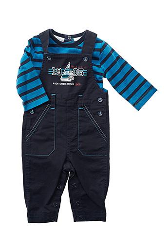 Top/pantalon bleu ELLE EST OU LA MER pour garçon