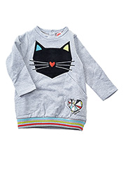 Robe pull gris TUC TUC pour fille seconde vue