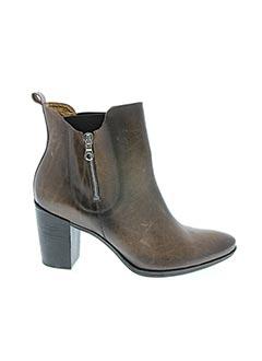 Bottines/Boots marron FRANCE MODE pour femme