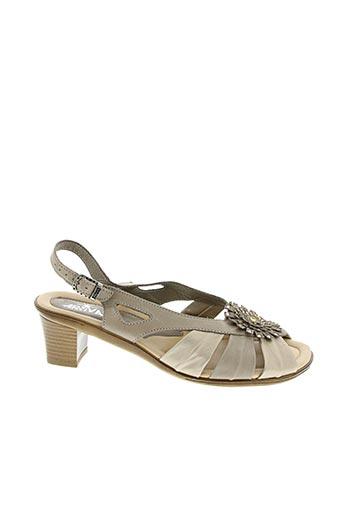 Sandales/Nu pieds marron ARRIVA pour femme
