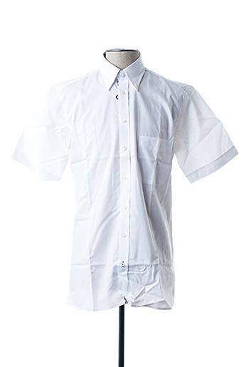 Chemise manches courtes blanc JEAN CHATEL pour homme