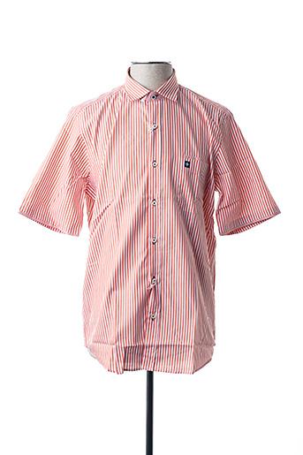 Chemise manches courtes orange BLUSALINA pour homme