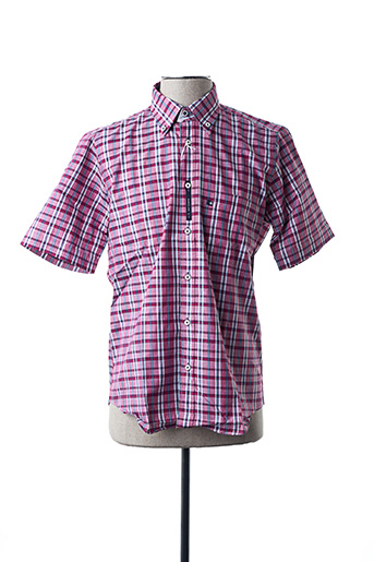 Chemise manches courtes rouge BLUSALINA pour homme