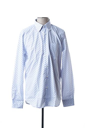 Chemise manches longues bleu BLUSALINA pour homme