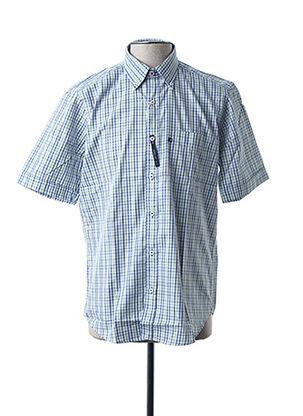 Chemise manches courtes vert BLUSALINA pour homme