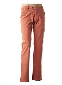 Pantalon chic orange BRUNO SAINT HILAIRE pour homme