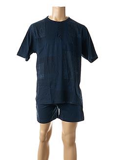 Pyjashort bleu GUASCH pour homme