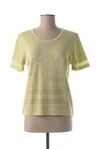 Pull col rond vert I.ODENA pour femme