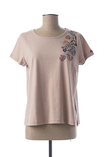 T-shirt manches courtes beige ARMOR LUX pour femme