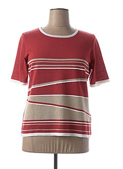 Pull col rond rouge TELMAIL pour femme