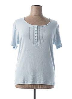 T-shirt manches courtes bleu FELINO pour femme