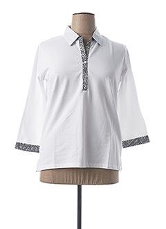 Polo manches longues blanc TELMAIL pour femme