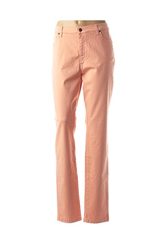 Pantalon casual orange LCDN pour femme