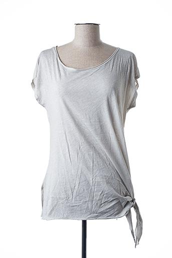 T-shirt manches courtes gris GARCONNE pour femme