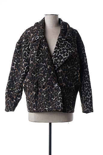 Manteau court noir DAPHNEA pour femme