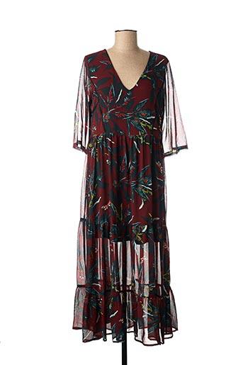 Robe longue rouge GRACE & MILA pour femme