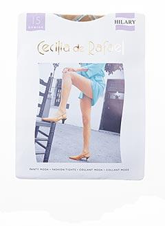 Collants beige CECILIA DE RAFAEL pour femme