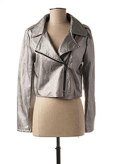 Veste simili cuir gris MINSK pour femme