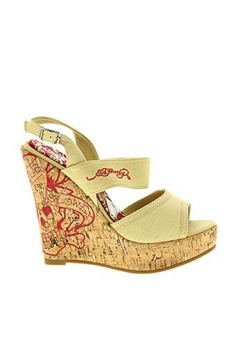 Sandales/Nu pieds beige ED HARDY pour femme