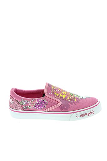 Baskets rose ED HARDY pour fille