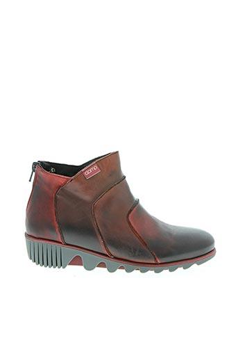 Bottines/Boots rouge CLAMP pour femme
