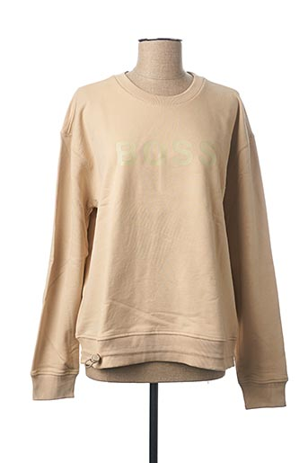 Sweat-shirt beige HUGO BOSS pour homme