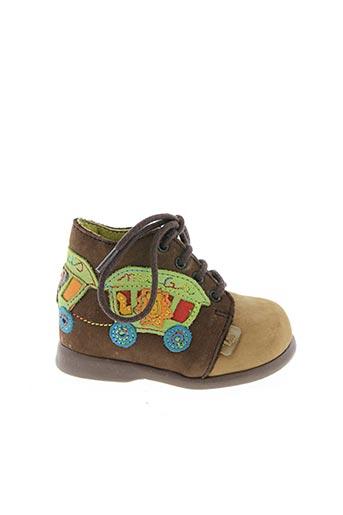Bottines/Boots marron LITTLE MARY pour garçon