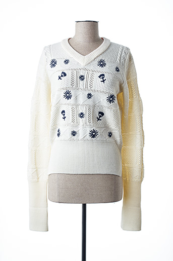 Pull col V beige PAUL SMITH pour femme