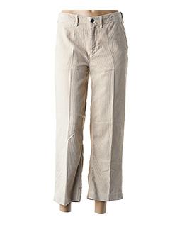 Pantalon 7/8 beige BELLEROSE pour femme