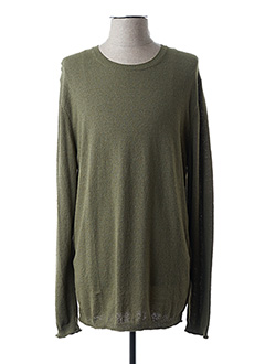 Pull col rond vert CLOSED pour homme