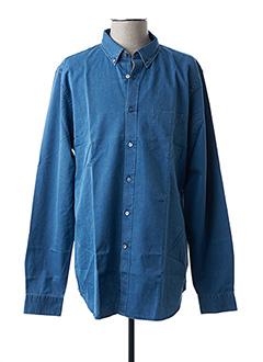 Chemise manches longues bleu CLOSED pour homme