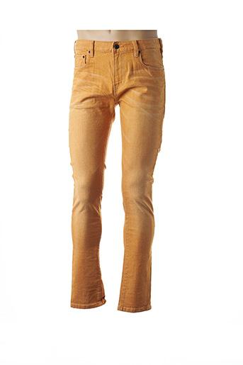 Jeans coupe slim jaune SCOTCH & SODA pour homme