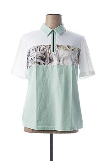 T-shirt manches courtes vert EUGEN KLEIN pour femme