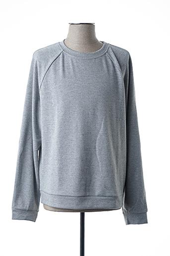 Sweat-shirt gris AMERICAN VINTAGE pour homme