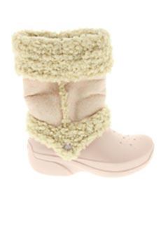 Bottes beige CROCS pour fille