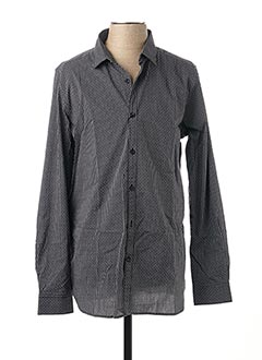 Chemise manches longues noir DSTREZZED pour homme