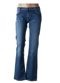 Jeans coupe droite bleu REIKO pour femme