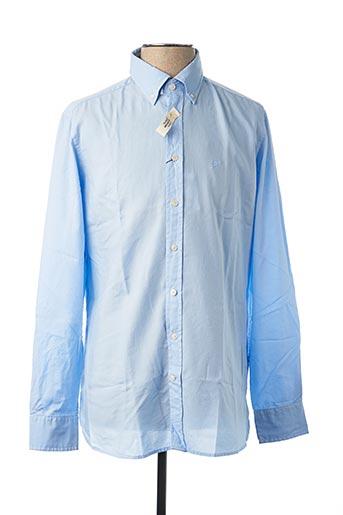 Chemise manches longues bleu HACKETT pour homme
