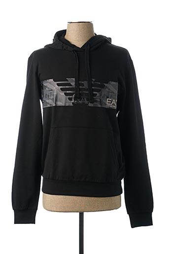 Sweat-shirt noir ARMANI pour homme