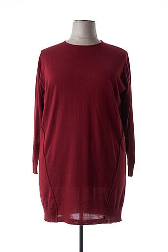 Pull tunique rouge MARINA RINALDI pour femme